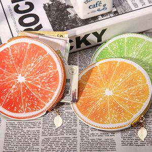 Korean fresh and cute fruit girls zipper round wallet coin bag coin purse NHBN242541