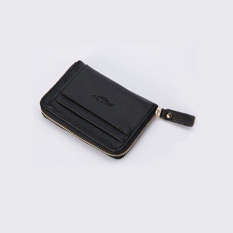Venta al por mayor de la cartera retro con cremallera de los nuevos hombres casuales de múltiples tarjetas de Corea NHBN242544's discount tags