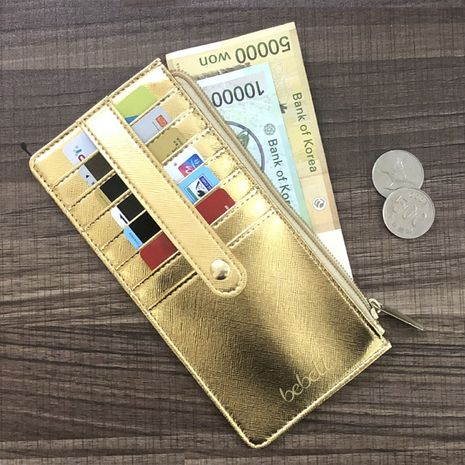new buckle long wallet multi-card position Korean zipper clutch women's bag wholesale NHBN242548's discount tags