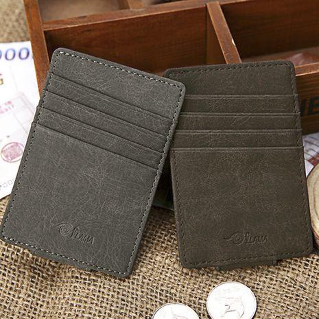 Imán personalizado de moda, cubierta de bolsa coreana, impresión de logotipo, tarjeta, monedero, tarjetero de moda esmerilado NHBN242551's discount tags