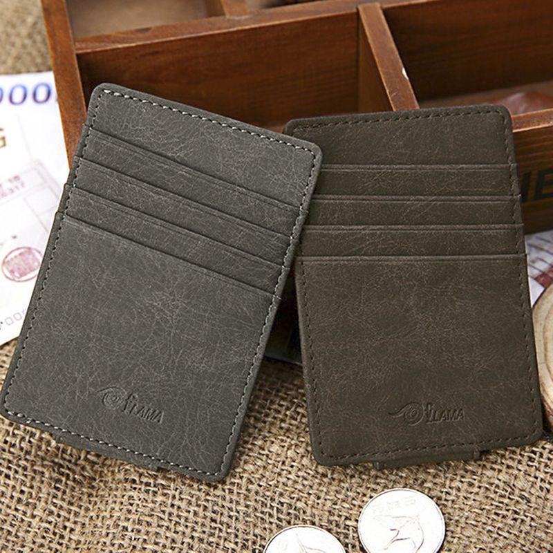 Fashion custom magnet Korean bag cover printing logo card coin purse frosted fashion card holder NHBN242551
