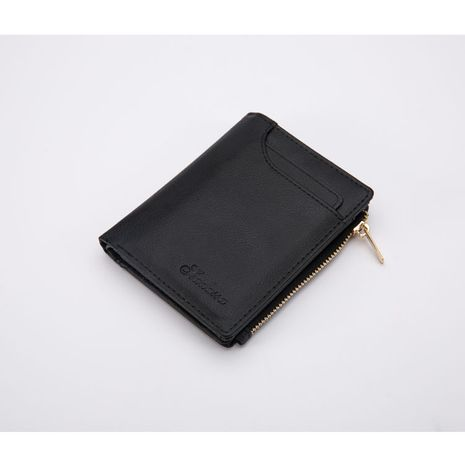 Korean leather new men's small change wallet wholesale NHBN242552's discount tags