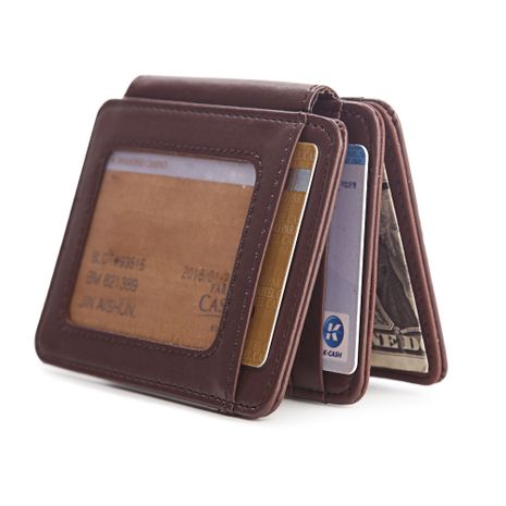 Korean fashion casual men's three fold coin purse wholesale NHBN242557's discount tags