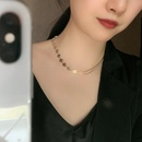Short fashion 14k gold nonfading smiley tank chain alloy choker delicate clavicle chain for women NHYQ242558
