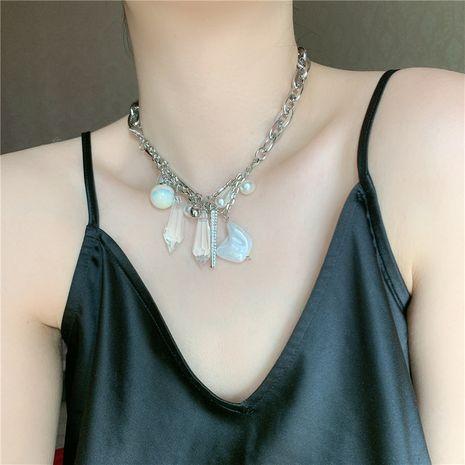 Mode courte exagérée mode chaîne épaisse perle cristal pendentif chaîne de la clavicule collier pour les femmes NHYQ242564's discount tags