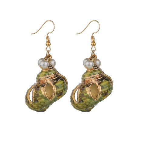hot sale conch pearl new fashion exquisite all-match earrings for women wholesale NHBQ242589's discount tags