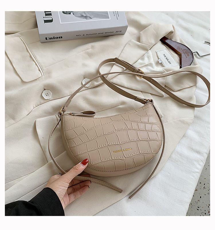 Niche new spring crocodile pattern fashion messenger womens small shoulder bag NHTC242649