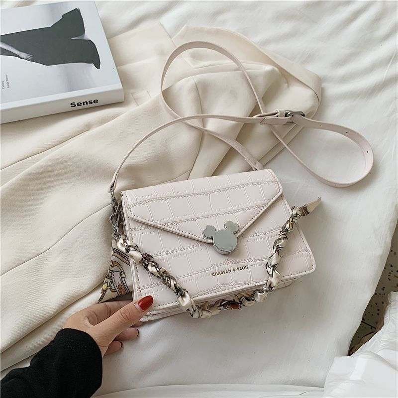 Summer new trendy chain shoulder messenger simple versatile fashion small square bag NHJZ242736