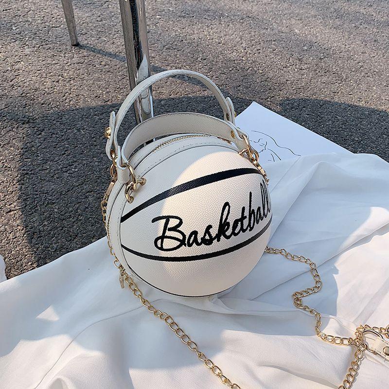 bolsa de baloncesto de cadena rosa mensajero pequeña y divertida para mujer nueva NHJZ242749