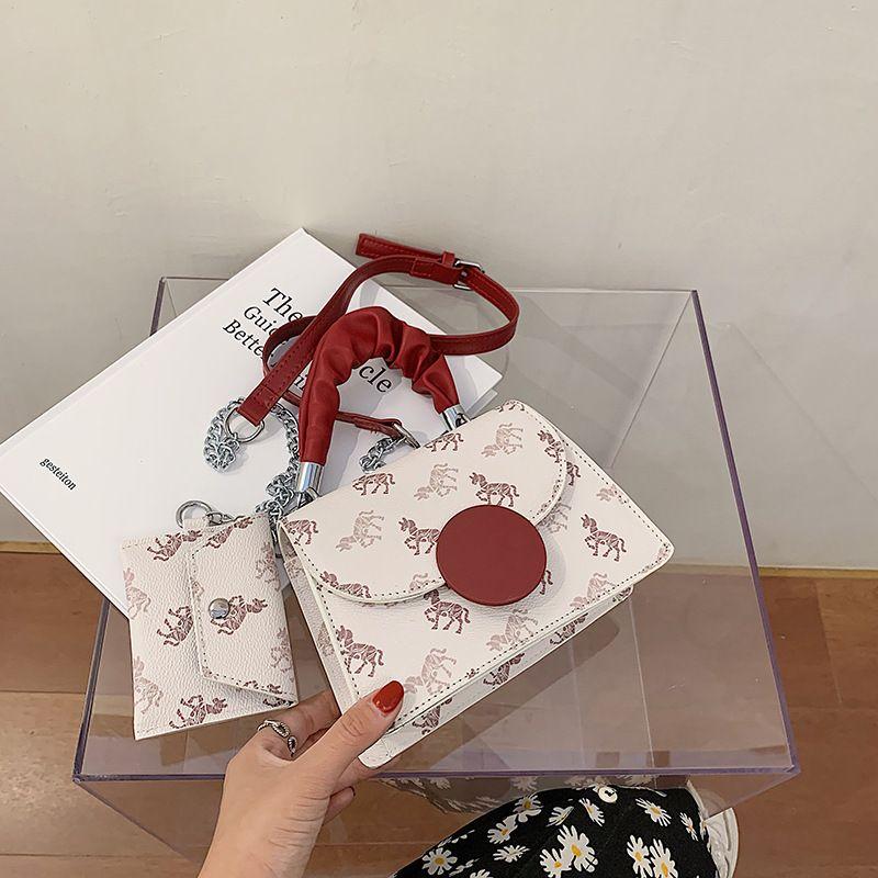 new trendy fashion chain shoulder messenger portable small square Allmatch small handbags   NHJZ242760