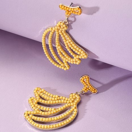 Creative new fruit banana earrings for women NHMD242855's discount tags