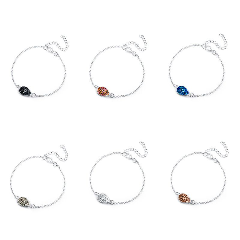 hot sale silver water drop resin natural stone Christmas lucky bracelet jewelry  NHAN251341