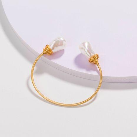 Pulsera de perlas blancas heterosexuales envueltas a mano de moda al por mayor NHAN251345's discount tags