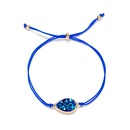 Fashion gold color rope natural stone turquoise Christmas alloy bracelet jewelry NHAN251340