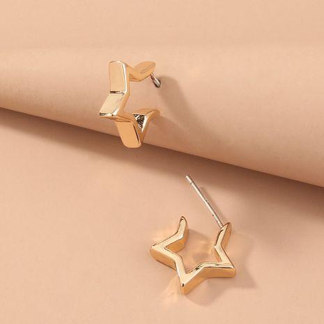 nuevos pendientes de estrella de cinco puntas de metal simples y pequeños al por mayor NHAN251351's discount tags