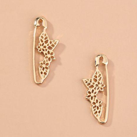 Pendientes de pin de flor de ciruelo creativos pendientes de clip de papel simples populares al por mayor NHAN251355's discount tags