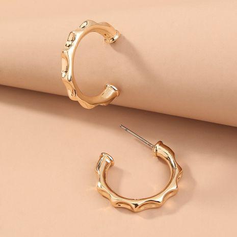 Pendientes geométricos creativos de moda cóncava de metal simple de venta caliente al por mayor NHAN251354's discount tags