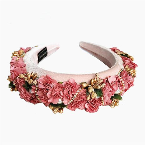 new retro palace style cloth flower alloy headband hair accessories wholesale NHVA251364's discount tags