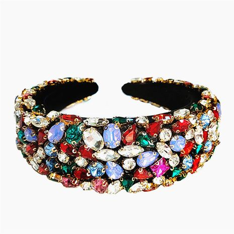 Fashion luxury diamond retro baroque crystal sponge headband  NHVA251366's discount tags