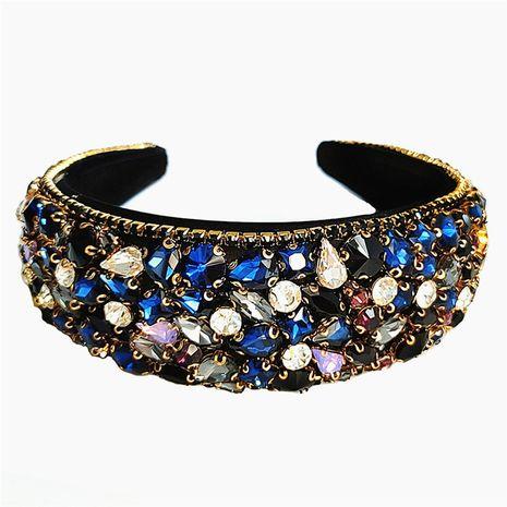 Fashion full rhinestone fashion broad brim pressure hair non-slip headband for women wholesale NHVA251365's discount tags