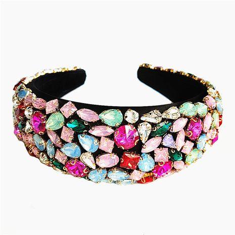 fashion luxury ladies exaggerated sponge diamond baroque style headband hair accessories NHVA251369's discount tags