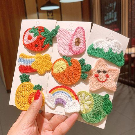 Children's handmade hairpin girls Korean fruit bb clip hairpin cute little clip hair accessories side girl bangs clip NHSA251377's discount tags