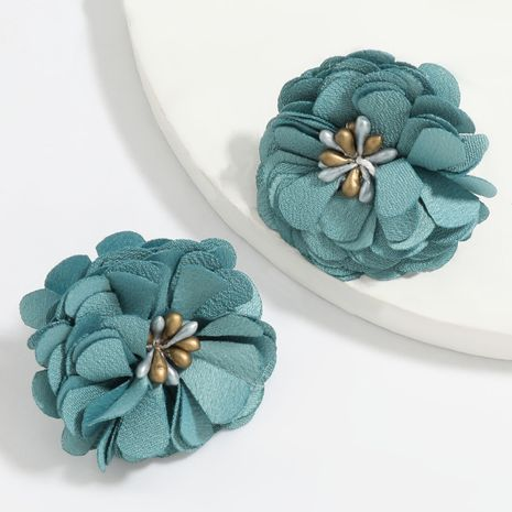 hot selling sexy wild personality fabric flower big flower earrings wholesale NHJE251379's discount tags