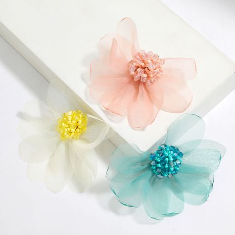 lace flower acrylic rice beads stamen earrings wholesale NHJE251384's discount tags