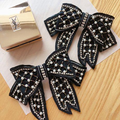Nouvelle coréenne noeud de perle clip en acier clip en épingle à cheveux coiffe en gros NHHI251417's discount tags