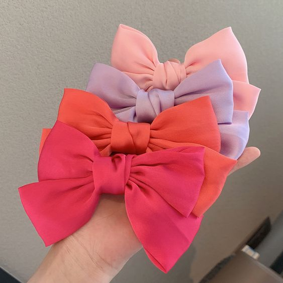 Red Headed Princess Bows and Clips