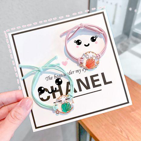 Moda concha doble estrella de mar niñas anudadas banda de goma elástica alta pulsera accesorios para el cabello de doble uso NHNA251444's discount tags