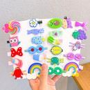 New cartoon childrens hair clip set cute bow headband side clip hair accessories wholesale NHNA251451
