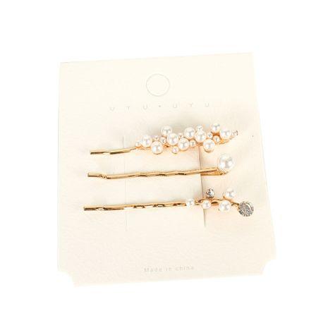 Pince à mot en alliage rétro en épingle à cheveux en perle d'imitation coréenne en gros NHCT251477's discount tags