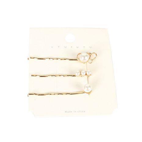 simple alliage amour coeur incrusté perle épingle à cheveux côté clip créatif mot clip en gros NHCT251478's discount tags