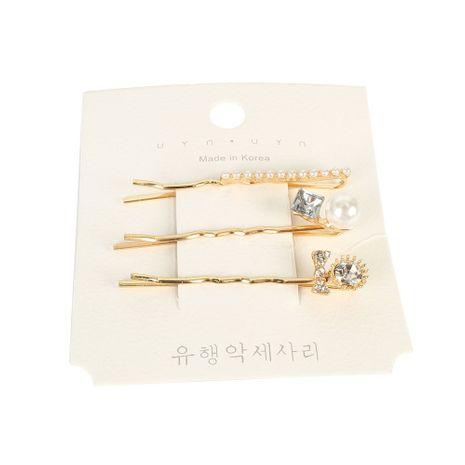 Korean retro alloy diamond word clip hair clip hair ornament wholesale NHCT251482's discount tags