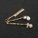 Korean retro alloy diamond word clip hair clip hair ornament wholesale NHCT251482