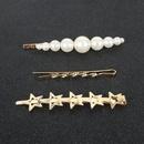 Coren doux vent toile  cinq branches en alliage d39pingle  cheveux incrust de perles mot clip accessoires de cheveux en gros NHCT251489