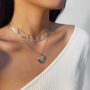 Fashion alloy autumn new clavicle suit simple heartshaped alloy pendant necklace for women NHXR251507
