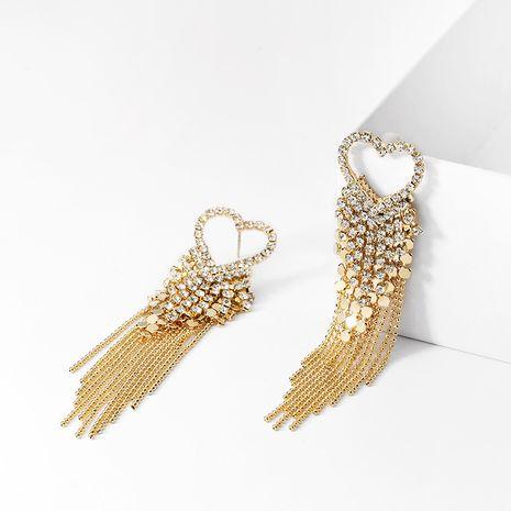 Pendientes largos de aleación de moda con borla de amor con aguja de plata 925 para mujer NHPP251528's discount tags