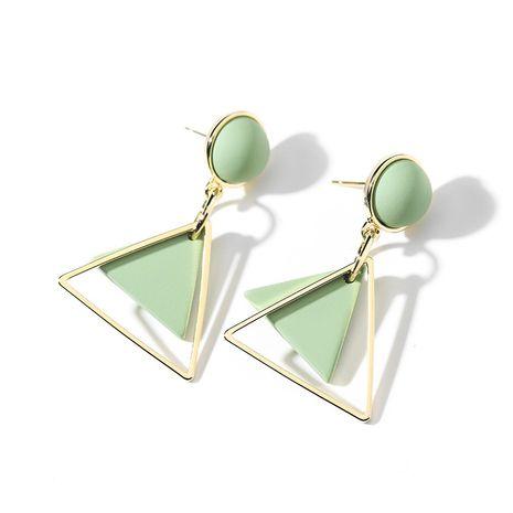 Aguja de plata 925 color caramelo moda geométrica verano nuevos pendientes de aleación elegantes simples para mujeres NHPP251529's discount tags