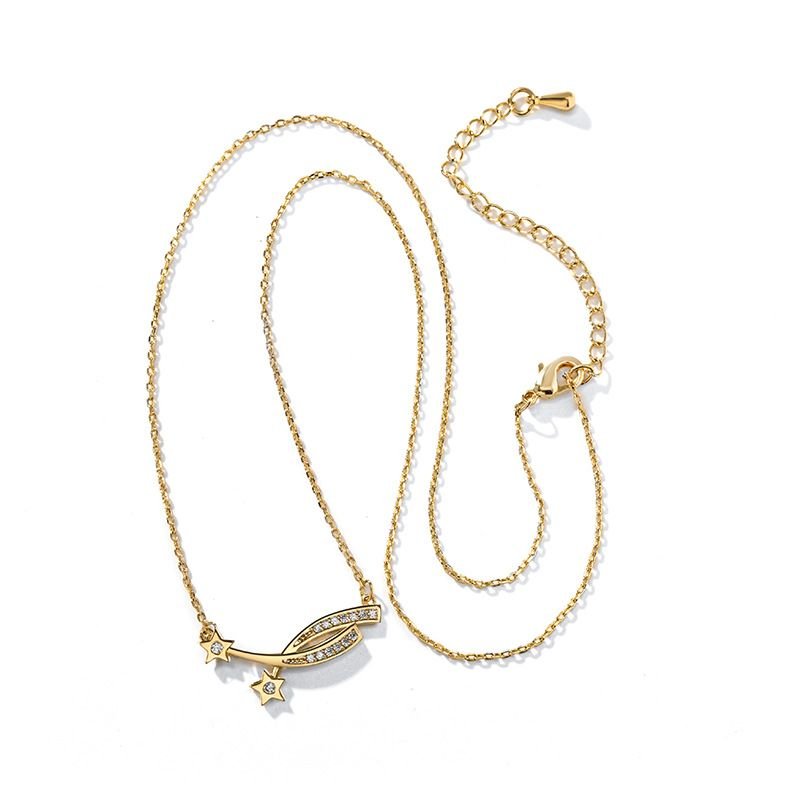 Fashion romantic meteor short sexy new trend fairy and elegant alloy clavicle chain necklace for women  NHPP251556