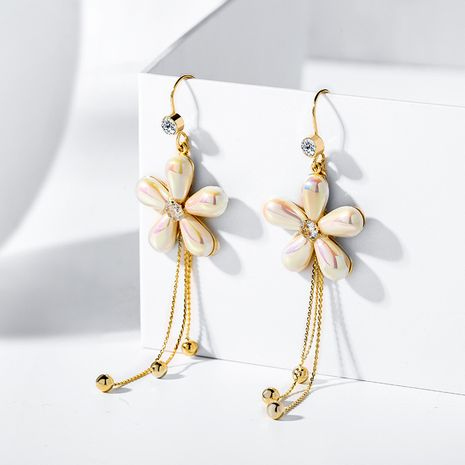 Fashion ladies elegant flower tassel simple new trendy fairy beauty fashion exaggerated alloy ear hooks earrings NHPP251558's discount tags