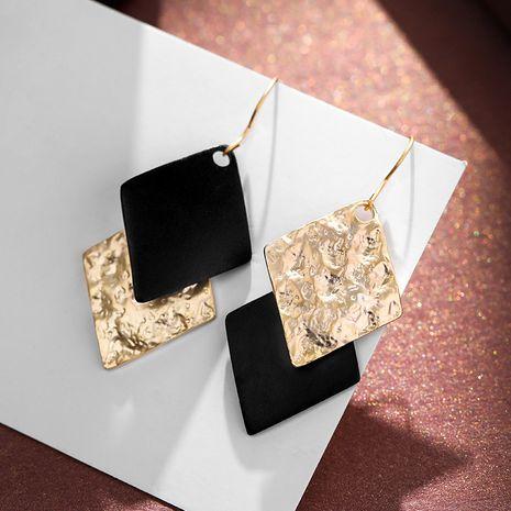 925 argent crochet diamant contraste couleur hiver nouvelles boucles d'oreilles en alliage longues élégantes à la mode NHPP251562's discount tags