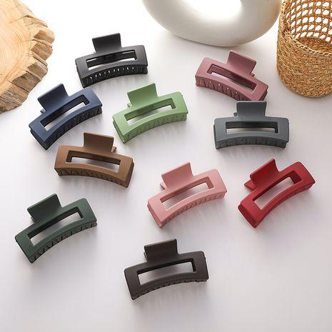 Korea simple square type back head plate hair ornaments bath shark clip wholesale NHMS251578's discount tags