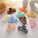 colorful grasping clip hairpin Korean plate hair clip square hair accessories wholesale NHMS251581