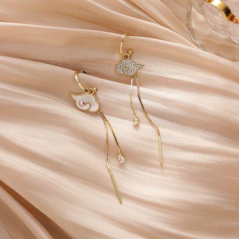 Pendientes de cobre de todo fósforo coreanos largos de aguja de plata 925 de nueva moda para mujer NHMS251628's discount tags