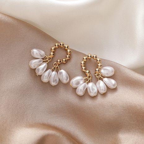 Nuevos pendientes de joyería de oreja de perlas barrocas retro de nicho de moda para mujeres coreanas NHMS251641's discount tags