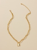 Fashion new small lock hot sale alloy pendant necklace for women wholesale NHGU251661