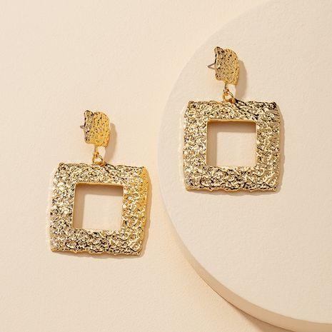 populaire 1 paire de boucles d'oreilles en métal texture en gros NHGU251669's discount tags