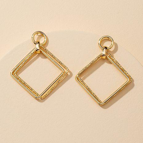 popular nuevo 1 par de pendientes geométricos de textura de metal al por mayor NHGU251676's discount tags